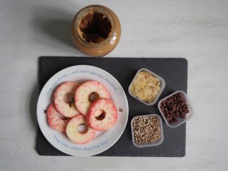 appelschijf met noten en chocolade