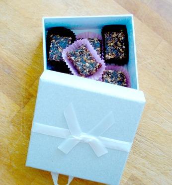 Chocolaatjes als cadeautje voor de juffrouw