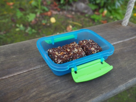 Chocolietjes als snackje onderweg