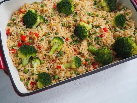 Gebakken rijst met groenten