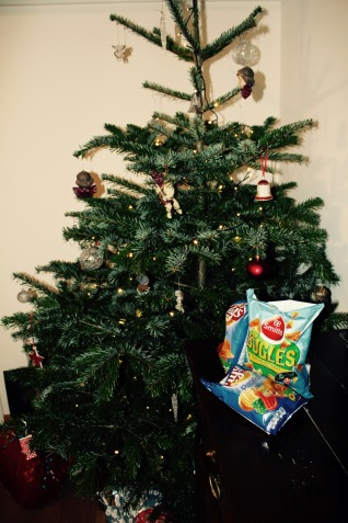 kerstboom en chips