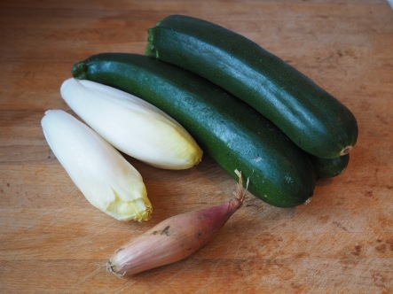 Soep van courgette en witloof