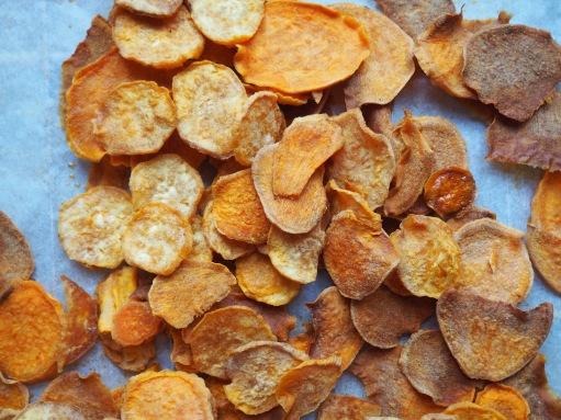 Chips van zoete aardappelen