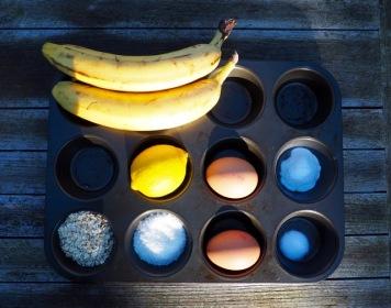 muffin met kokos en banaan