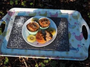 Muffins met havermout, banaan en kokos
