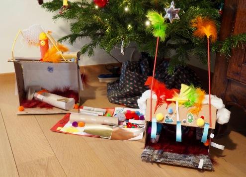 Kerststal zelfgemaakt