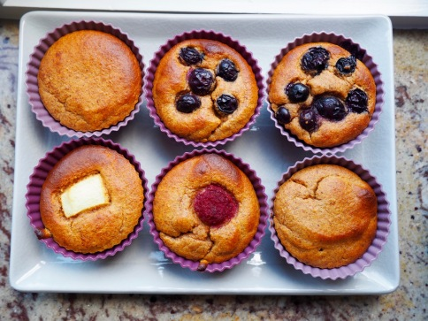 muffin met zoete aardappel en amandelboter