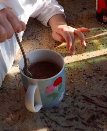Chocolade cake in een beker