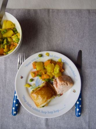 Gemengde groenten in bladerdeeg